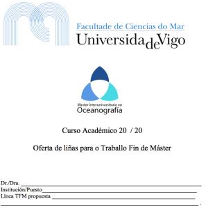 Ofertas TFM Uvigo